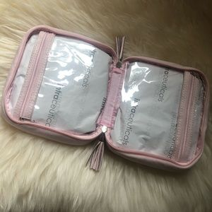 Blush pink travel bag Intraceuticles micro suede